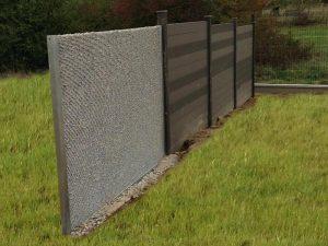 Aménagement clôture 1 gabions et 3 composites