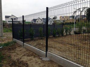 Pose de clôture rigide 3D